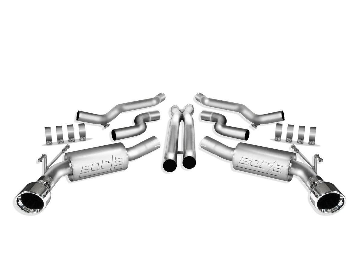 Camaro 2010-13, BORLA Exhaust System, S-Type, Cat-Back, 2-1/2 in Tailpipe, 4-1/2 in Tips, Stainless, Natura