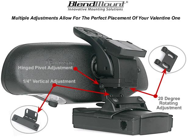 Blendmount 2000 Series Mount For Valentine One Radar Detector