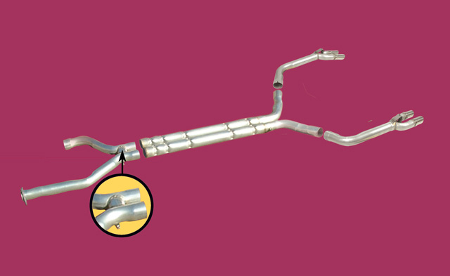 1992-1995 CHAMBERED EXHAUST SYSTEM Pipes