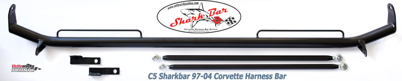 Sharkbar C5 Corvette 1997-2004 Harness Mounting Bar, Replaces Sparco Orginal Harness Bar