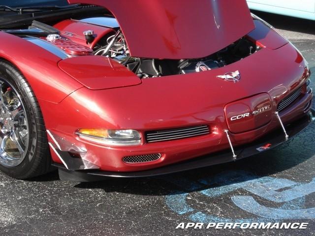 C5 Corvette Custom Carbon Fiber Front Splitter, Spoiler with Supports