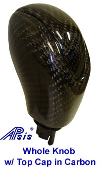 C6 Corvette, Automatic Shift Knob in real Carbon Fiber, w/ Top Cap in same finish