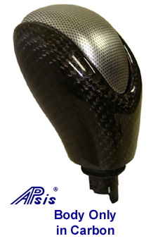 C6 Corvette, Automatic Shift Knob in real Carbon Fiber, w/o Top Cap
