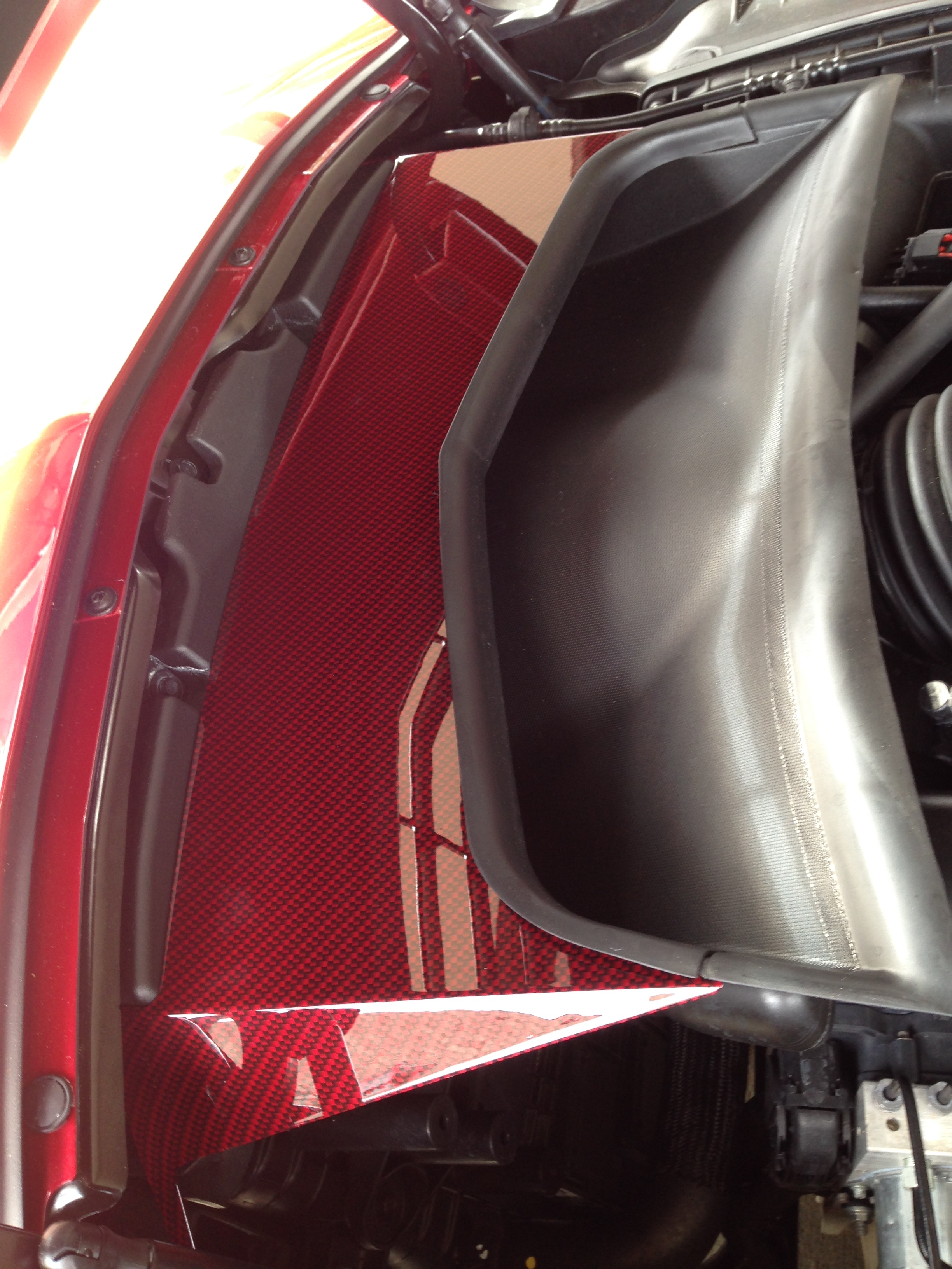 C7 Corvette, Custom HydroCarboned, Painted, Air Tube Cover, Direct Replacement