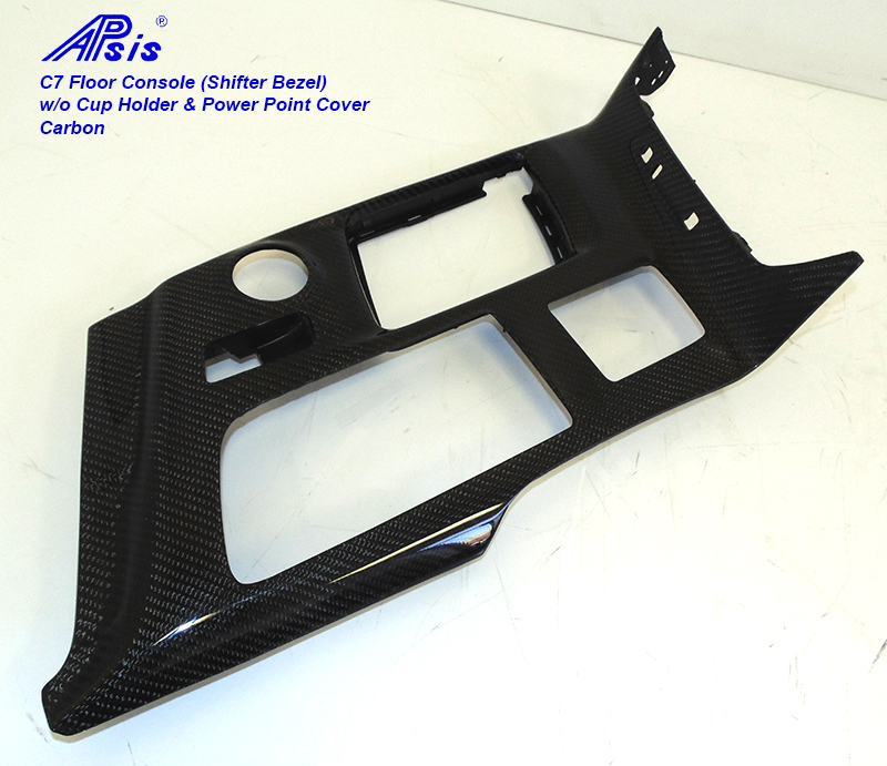 14-UP C7 Corvette Carbon Fiber Floor Console (Shifter Bezel), All Carbon
