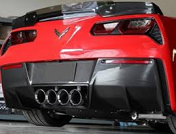 C7 Corvette Stingray, Z06, Grand Sport, Custom Real Carbon Fiber, Rear Lower Valance Diffuser