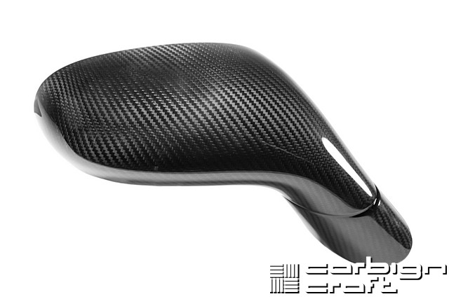 C6 Corvette 2005-Up Carbon Fiber Replacement Mirrors, Pair