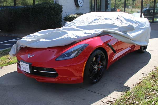 Covercraft C17616TK Custom Fit Car Cover for Select Chevrolet Corvette Models Evolution Tan