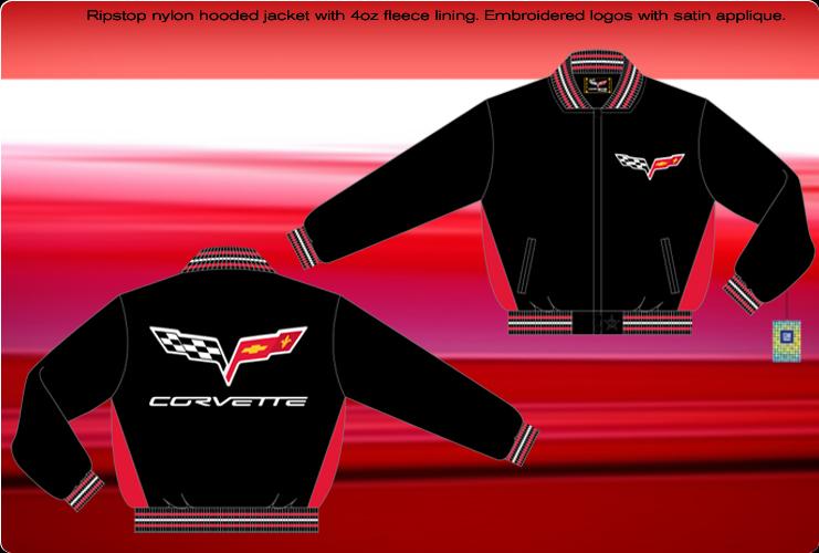 CORVETTE C6 RED//BLACK JACKET