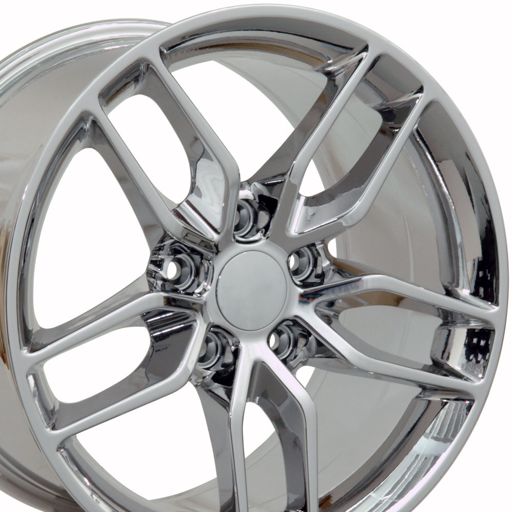 Corvette, C7 Stingray Style, 19x10 Rear Wheel for 2005-2013 C6 Base Model Fitment, Chrome