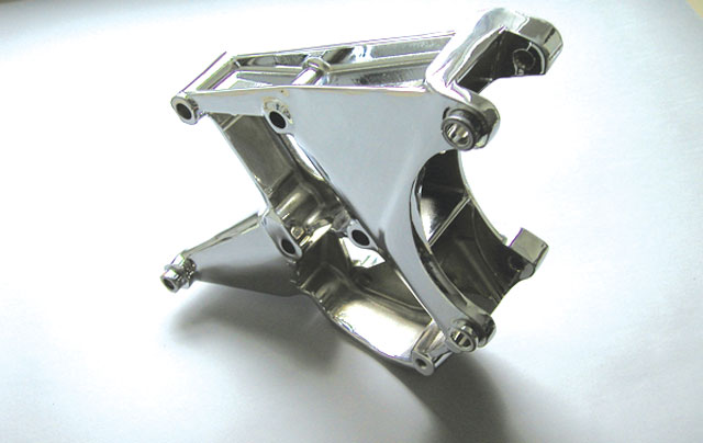 C6 Corvette LS2 / LS3 / LS7 Alternator And Power Steering Mounting Bracket - Chrome