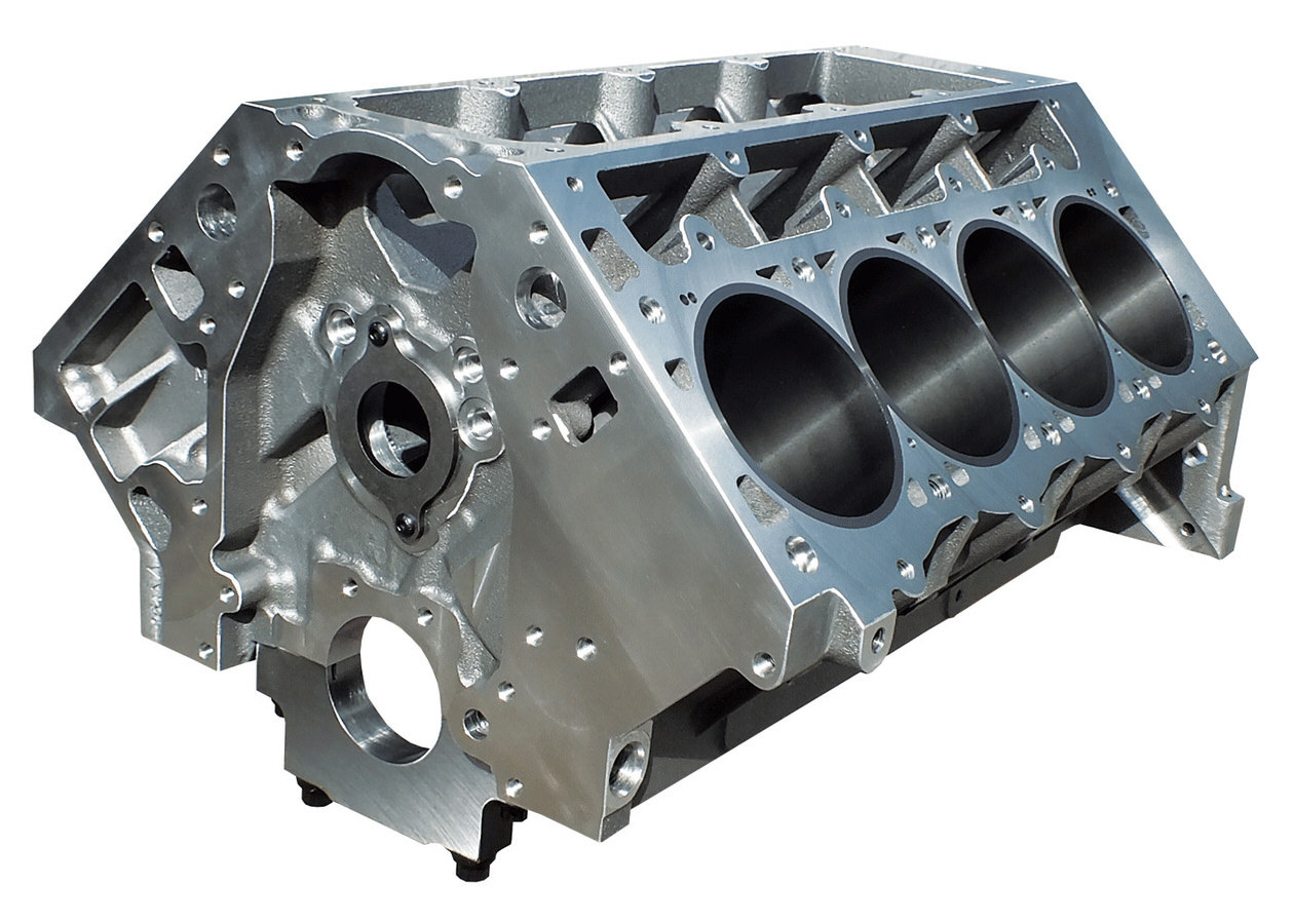 DART Bare Engine Block, LS Next, 4.125 in Bore, 9.240 Deck, 4-Bolt Main, 1 Pc Seal, 0.375 in Extended Cylinder Barrels, Aluminum
