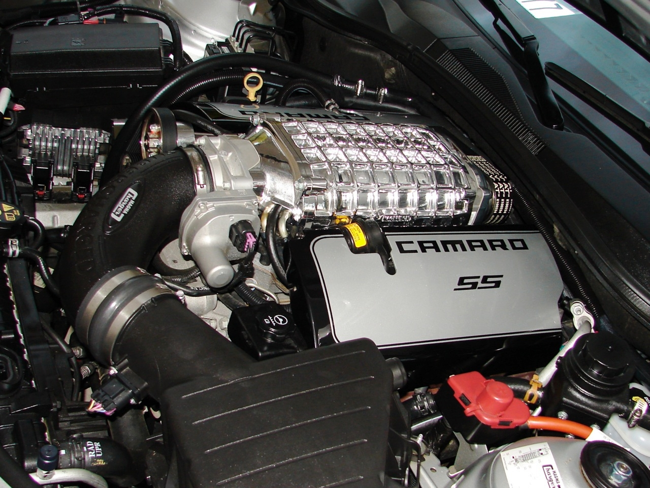 C6 Corvette Performance 2011 Camaro Ss Fuse Box Cover 2010 13 2300 Supercharger Engine Covers Aluminum