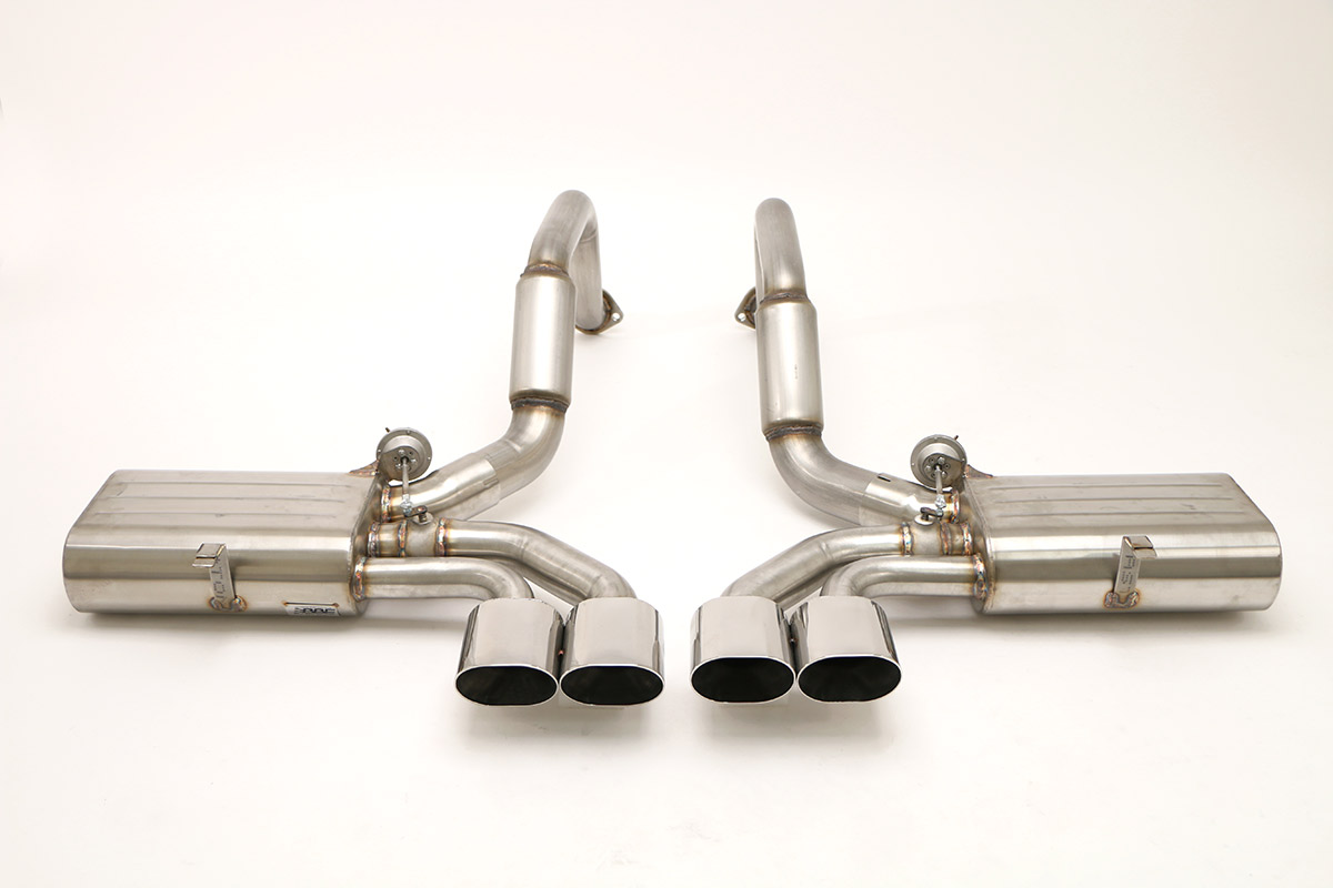 Chevy C5 Corvette Fusion Exhaust (Oval Tips) Billy Boat Exhaust 4 1/2'' Qd Oval Tips