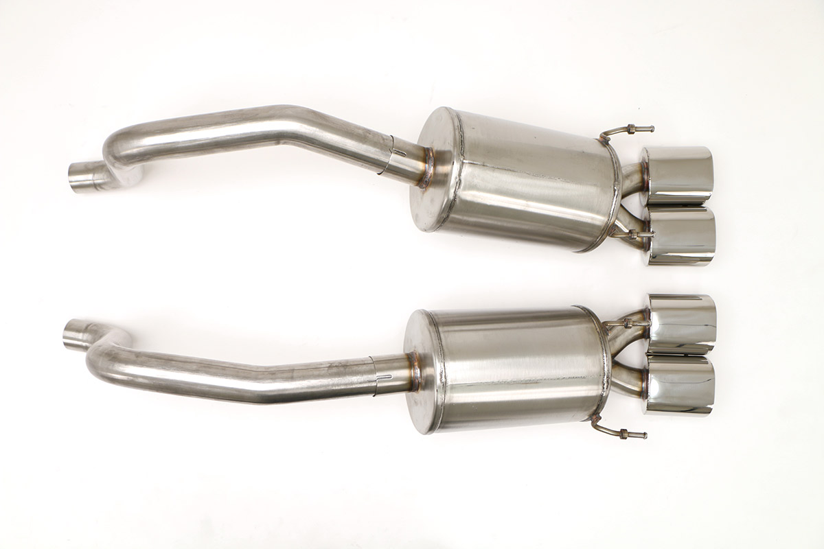 Chevy C6 Corvette PRT Exhaust (Includes Grandsport) (Oval Tips) Billy Boat Exhaust 4 1/2'' Qd Oval Tips