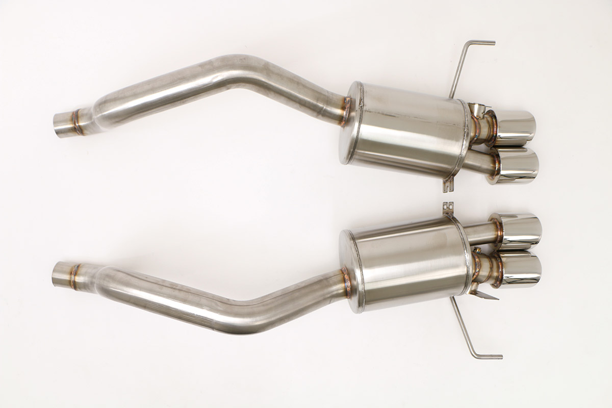 Chevy C7 Corvette Z06 Gen. 3 Fusion Exhaust (Round Tips) Billy Boat Exhaust 4'' Quad Rnd Tips