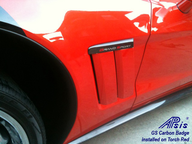 APsis Carbon Fiber Grand Sport C6 Corvette Side Badges