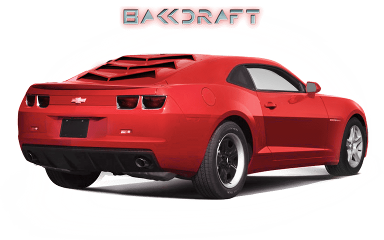 2010-15 5th Gen Camaro GlassSkinz Bakkdraft Rear Window Valance / Louver