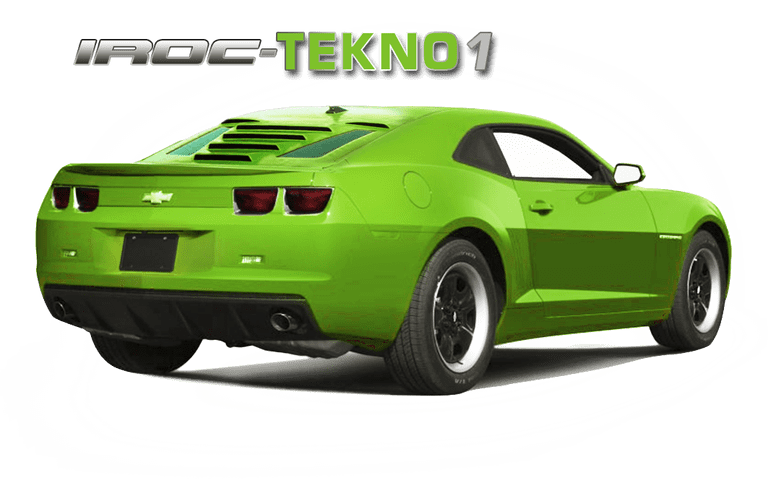 2010-15 5th Gen Camaro IROC Licensed GlassSkinz Tekno 1 Rear Window Valance / Louver
