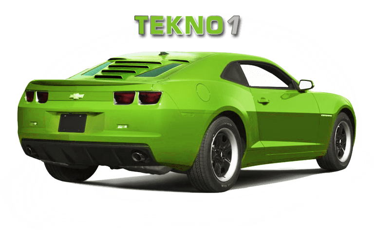 2010-15 5th Gen Camaro GlassSkinz Tecno 1 Rear Window Valance / Louver