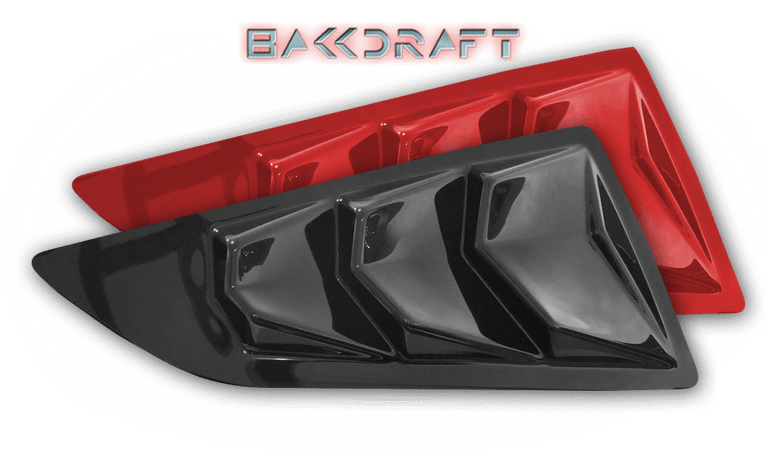 2014-19 C7 Corvette GlassSkinz Bakkdraft Side Window Valance / Louver, PAIR