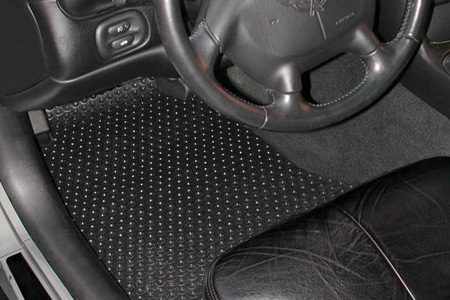 C5 Corvette Rubbertite Custom Front Floor Mat Set 97-04 All Weather
