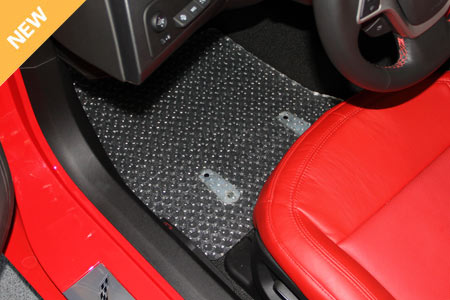2014 C7 Corvette Stingray Lloyds Clear Protector Floor Mats, Pair, All Weather