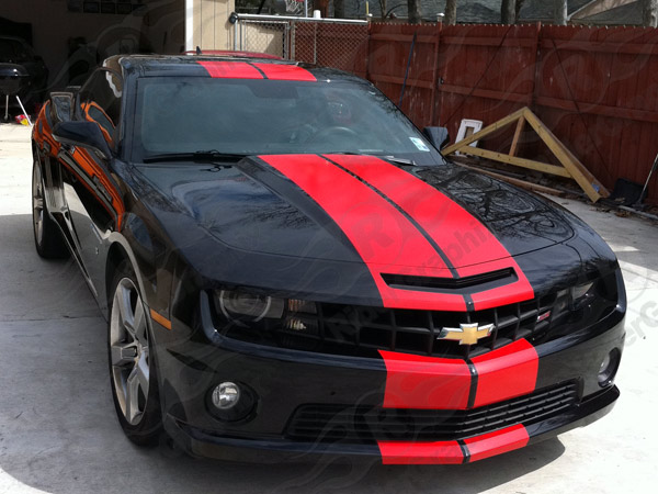 2010 & Up Camaro Pace Car Style Rally Stripe Decal Kit