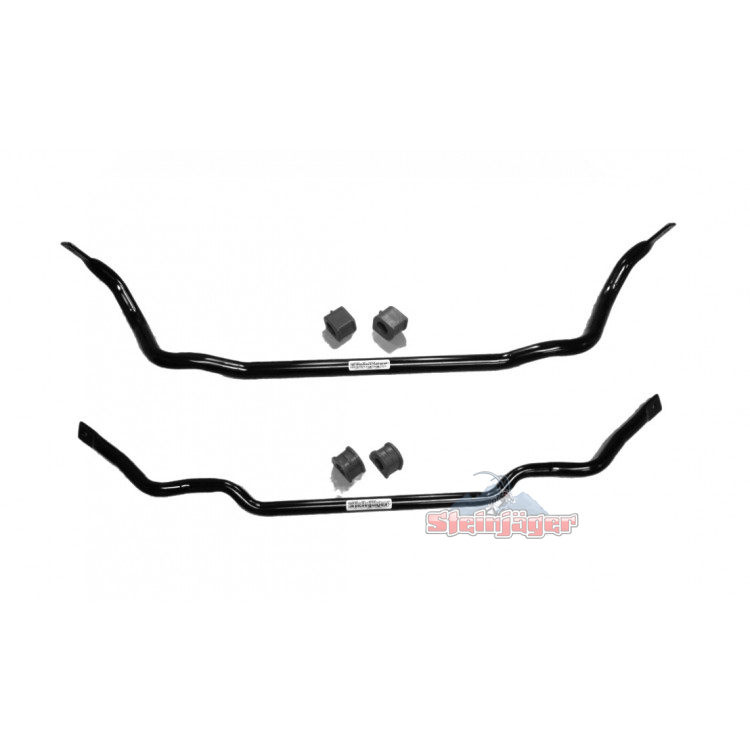 "Corvette C6 2005-2013, Front and Rear Sway Bars, 1.25"" x 0.120"" W DOM Tube & Poly Kit"