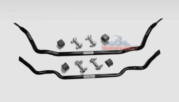 "Corvette C6 2005-2013, Front and Rear Sway Bars with Extreme Duty End Links, 1.25"" x 0.120"" W DOM Tube & Poly Kit"