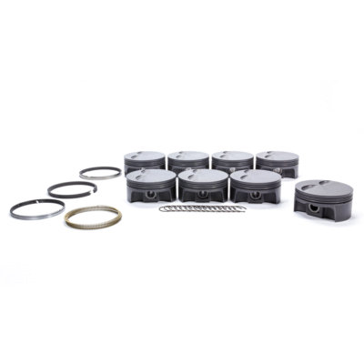 MAHLE LS7 Engine Piston and Ring, PowerPak, Forged, 4.130 in Bore, 1.0 x 1.0 x 2.0 mm Ring Groove, -3.0 cc