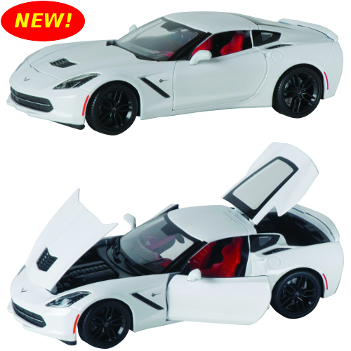 2014 1:18th Scale Corvette Stingray White Coupe Diecast - By MAISTO