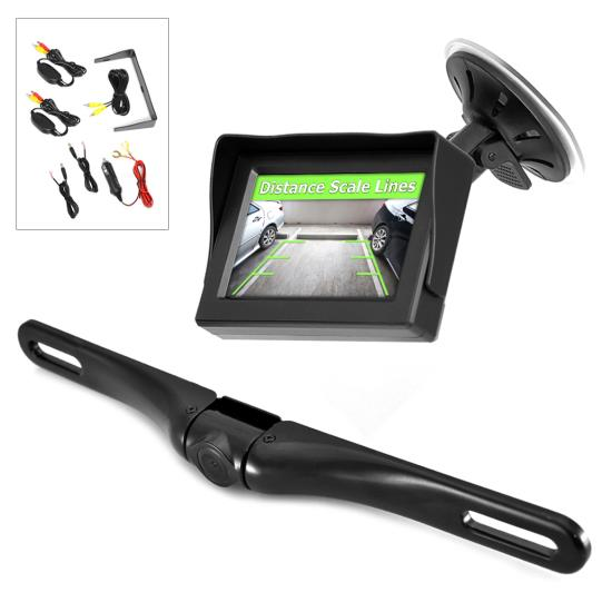Corvette Wireless Rearview Backup Camera & Monitor, Waterproof Camera, 4.3'' Display, Distance Scale Lines