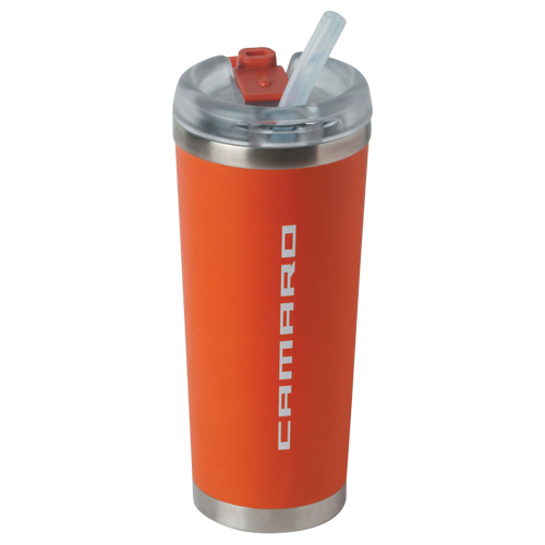 Camaro ORANGE BROOKLYN 24 oz. Double Wall Stainless Steel Tumbler with  vacuum insulation