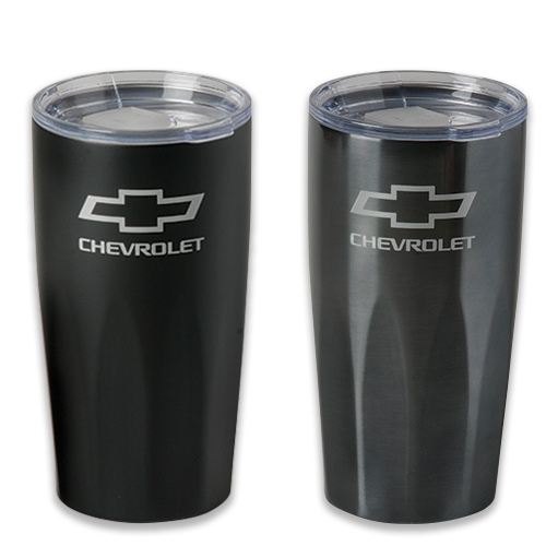 Chevrolet Bowtie Logo 20 Oz. BASECAMP MOUNT FIJI Travel Thermal Stainless Steel Mug Tumbler