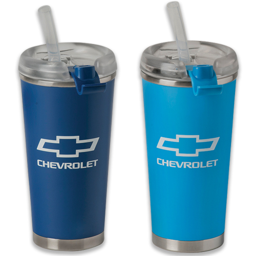 Chevrolet Bowtie Logo 12 Oz. CAMPER Travel Thermal Stainless Steel Mug Tumbler
