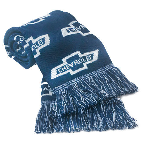Chevrolet Scarf with Chevrolet Bowtie Logos, Stay Warm in Chevrolet Style