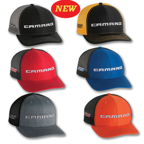 Camaro SS TRUCKER Hat, Cap, with CAMARO Logo on front