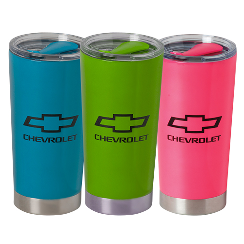 Chevrolet Bowtie Logo 20 Oz. Frost Travel Thermal Stainless Steel Mug Tumbler