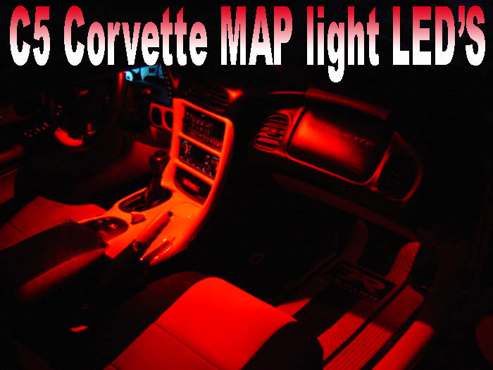 C5 Corvette Rear View Mirror / Map LED Kit, Both Sides 1997-1999