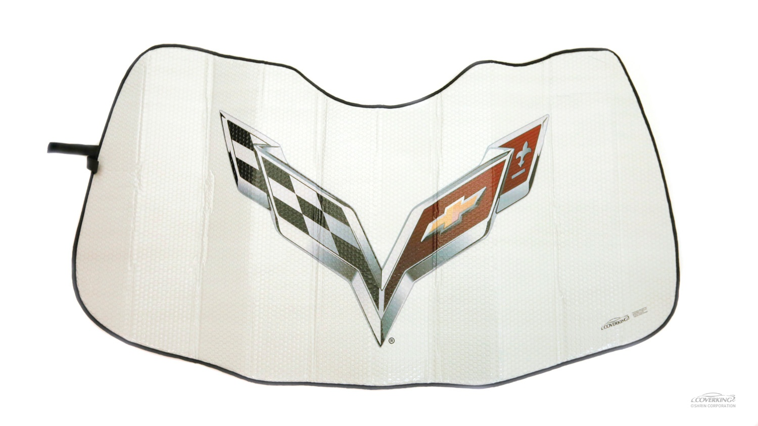 C7 Corvette flag Emblem MODA Folding Graphic Corvette� Sunshield�, Solar Windshield Shade