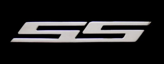 "2010 + Camaro 6"" SS Logos Billet Aluminum - CHROME (Set of 2)"