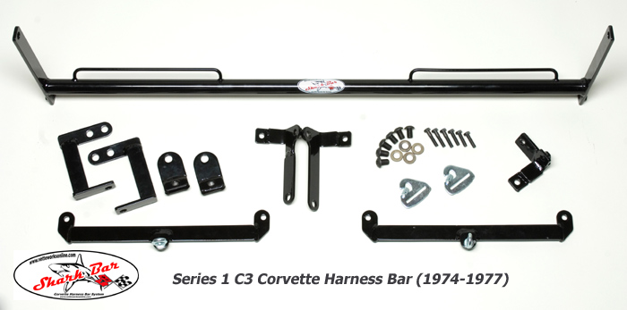 Vetteworks Sharkbar Series 1 C3 Corvette Harness Mounting Bar for Track Events  1974-1977
