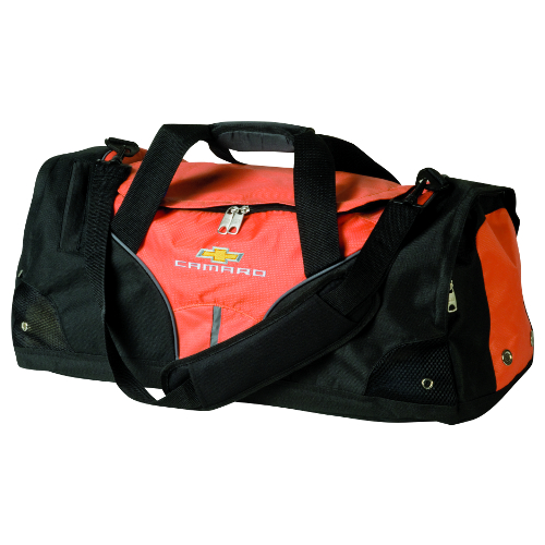 Camaro Duffle Bag with Embroidered CAMARO & Gold Bowtie Logo