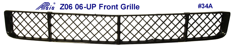 Real Carbon Fiber,  C6 or Z06  Corvette, Front Grill