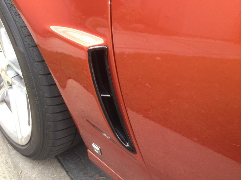 C6 Z06 Corvette Custom Hydrocarbon Brake Ducts & Fender