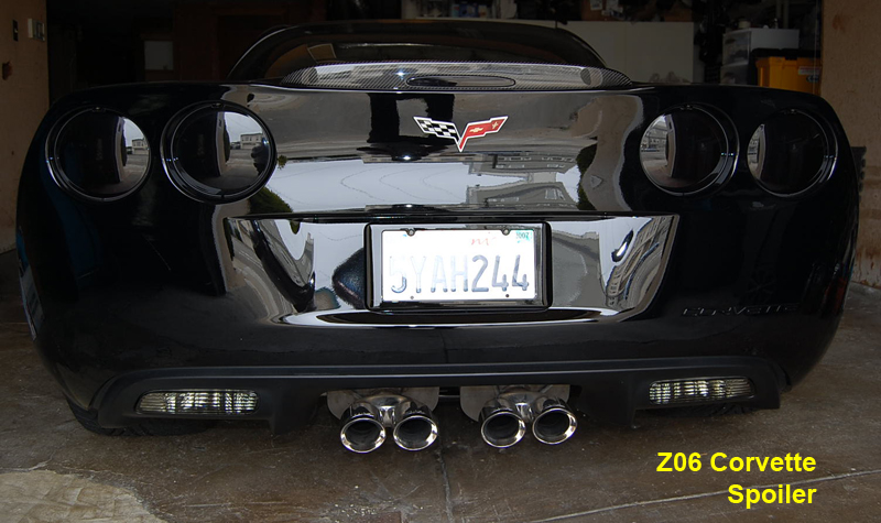 Real Carbon Fiber, C6 Z06 / Grand Sport Corvette, 3rd Brake Light ( Spoiler )