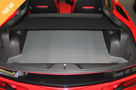 2014 C7 Corvette Stingray Lloyds Clear Protector Cargo Mat, Pair, All Weather