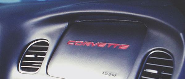 1997-2004 C5 Corvette Airbag Letters Silver