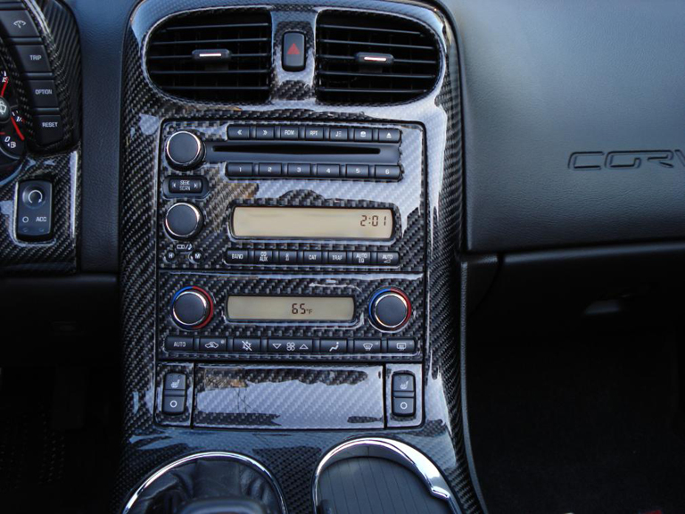 Radio Ac Bezel W Navigation Real Carbon Fiber C6 Corvette 2005